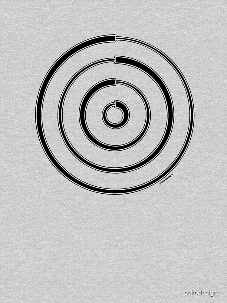 Mandala 27 Back In Black by sekodesigns