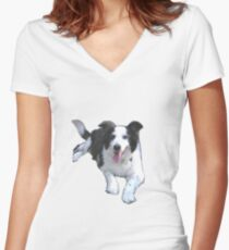 Bonnie # 2 Women's Fitted V-Neck T-Shirt