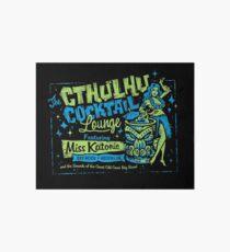 Cthulhu Cocktail Lounge Art Board Print