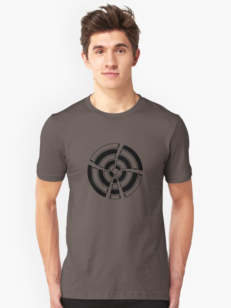 Mandala 25 Back In Black Unisex T-Shirt Front