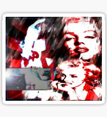 Marilyn's Many Faces Sticker