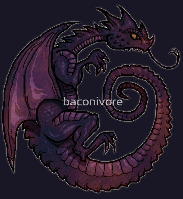 Deep Dark Dragon by baconivore