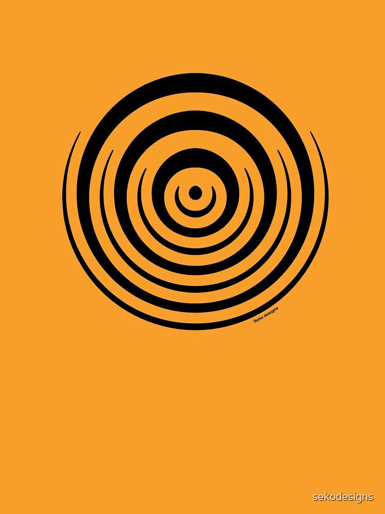 Mandala 16 Back In Black by sekodesigns