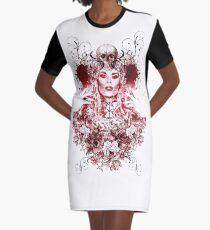 RuPaul Katya Zamolodchikova Gothic Russian Print Graphic T-Shirt Dress