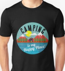 Camping is My Happy Place - Summer Vacation T-Shirt Unisex T-Shirt
