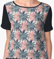 Vintage Palm Trees Chiffon Top