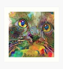 Abstract Catnip Dream (Electric Catnip) Art Print