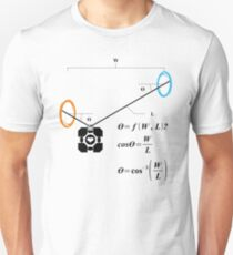 Newton's 1st Law of Motion with POrtals Unisex T-Shirt