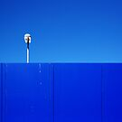 Silver light, blue wall by Janet Leadbeater