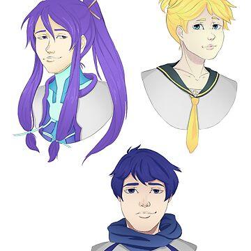Main Vocaloid Boyos by CrankyKankri