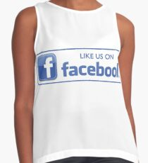 like us on facebook Contrast Tank