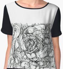 "Abstract graphic artwork ""Wandering"" Chiffon Top"