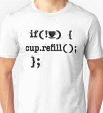 Coffee Refill Computer Code Unisex T-Shirt