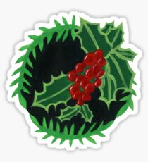 Holly Botanical Painting Sticker