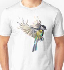 Flying Songbird Cyanistes Caeruleus / Blue Tit Bird - white Unisex T-Shirt