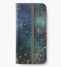 Glitter space iPhone Wallet