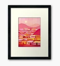 Pueblo at Dusk Framed Print