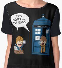 Dr Who - Tardis Doctors chibi Women's Chiffon Top
