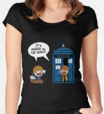 Dr Who - Tardis Doctors chibi Women's Fitted Scoop T-Shirt