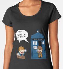 Dr Who - Tardis Doctors chibi Women's Premium T-Shirt