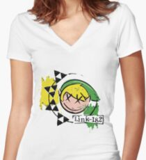 Link-182 - Master Quest! Women's Fitted V-Neck T-Shirt
