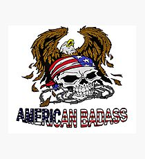 Patriotism - American Skull and Eagle 2 Photographic Print