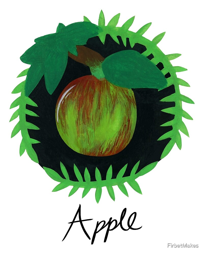 Apple Botanical Painting by FirbetMakes