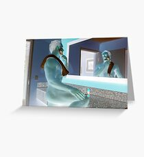 Elite Male Fitness Model - A255 Greeting Card