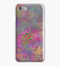 abstract color splatter iPhone Case/Skin