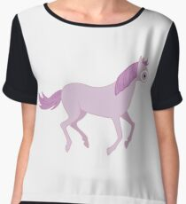 Watch Me Gallop Away From The Basics Chiffon Top