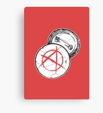Anarchy Brooch - PUNX NOT DEAD Canvas Print