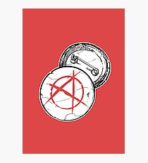 Anarchy Brooch - PUNX NOT DEAD Photographic Print