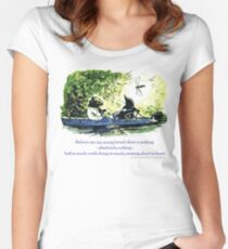 Messing About in Boats Women's Fitted Scoop T-Shirt