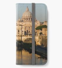 St Peter's Morning Glow - Impressions Of Rome iPhone Wallet