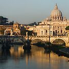 St Peter's Morning Glow - Impressions Of Rome by Georgia Mizuleva