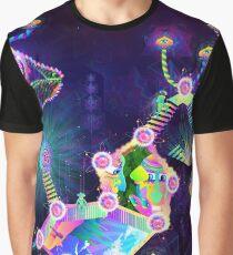 Magic Mushroom World Graphic T-Shirt