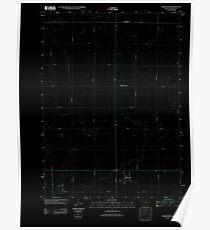 USGS TOPO Map Iowa IA Harcourt 20130415 TM Inverted Poster