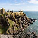 Dunnottar Castle Scotland Postcard by Georgia Mizuleva