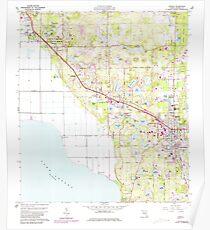 USGS TOPO Map Florida FL Apopka 344959 1960 24000 Poster