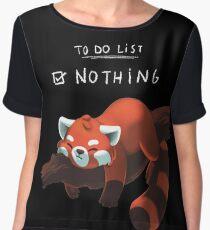 Red Panda - Lazy to do list Chiffon Top