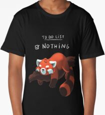 Red Panda - Lazy to do list Long T-Shirt