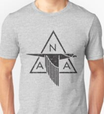 North American Aviation (NAA) Vintage Logo | Distressed Black Unisex T-Shirt