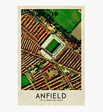 Vintage Football Grounds - Anfield (Liverpool FC) Photographic Print