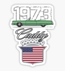 73 Green Caddy Sticker