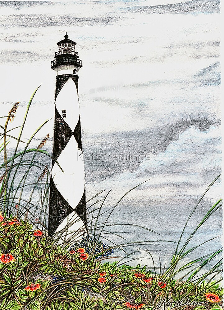 Cape Lookout Lighthouse by Katsdrawings