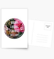 Angry Liberal Feminist Killjoy Postcards