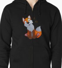 Singing, swinging foxy Zipped Hoodie