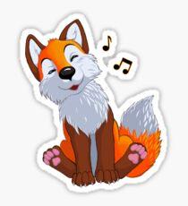 Singing, swinging foxy Sticker