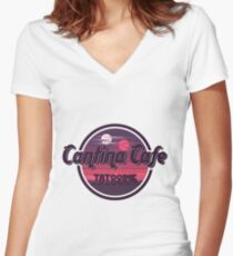 Cantina Band Cafe Tatooine Shirt Women's Fitted V-Neck T-Shirt