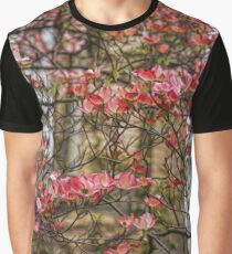 Pink Spring Dogwood Graphic T-Shirt